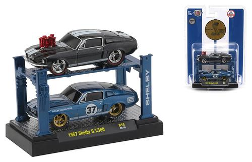 1967 Ford Shelby GT500 in Black Pearl Metallic and in Guardsman Blue with Auto-Lift