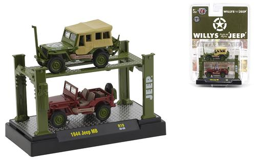 1944 Willys MB Jeep in Army Green and in Red Oxide Primer with Auto-Lift