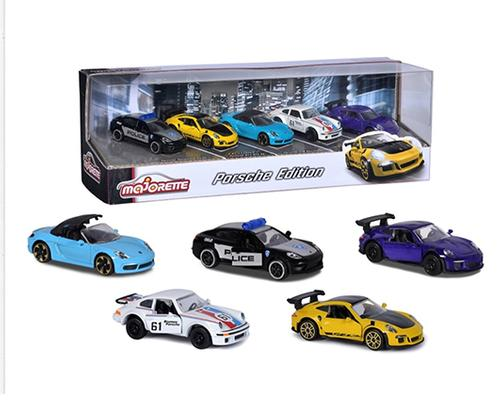 Majorette 1:64 5-Car Set Gift Pack Porsche Edition