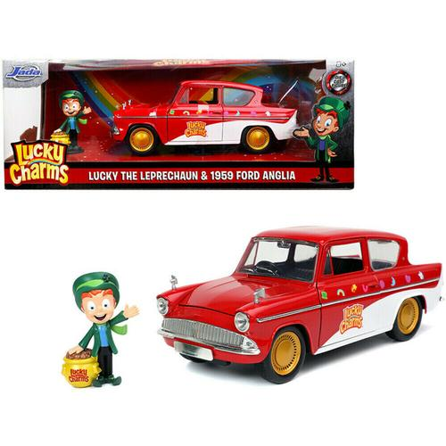 Lucky Charms 1959 Ford Anglia & Lucky The Leprechaun Figure
