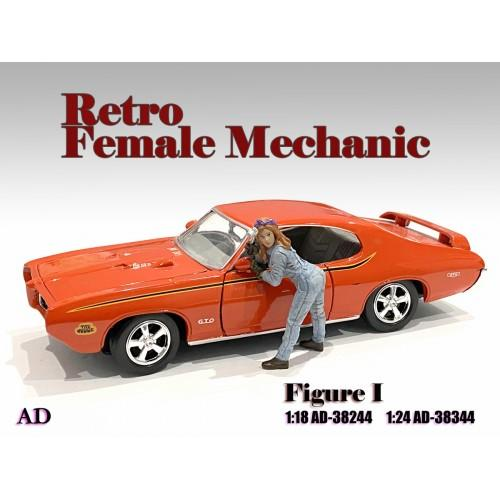 Figure 1:18 Retro Female Mechanic - I