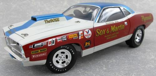 Plymouth Cuda 1972 Pro Stock Sox & Martin