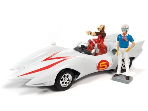 Speed Racer Mach 5 w/Chim-Chim and Speed Racer Figures