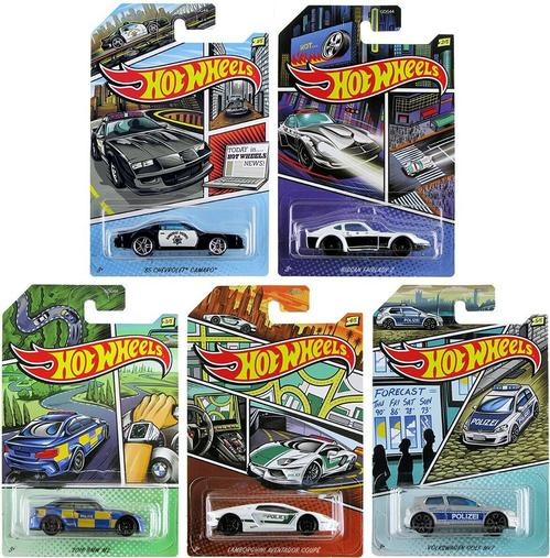 Hot Wheels 2020 Walmart Exclusives Police Series Set of 5