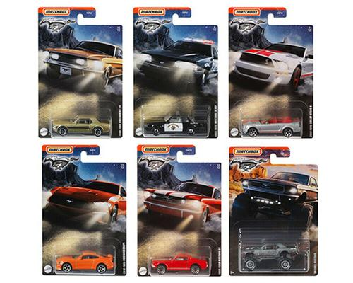 2021 Matchbox 1:64 Walmart Exclusive Ford Mustang Set of 6