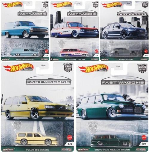 2021 CAR CULTURE FAST WAGONS SET OF 5 (CASE B) 1/64