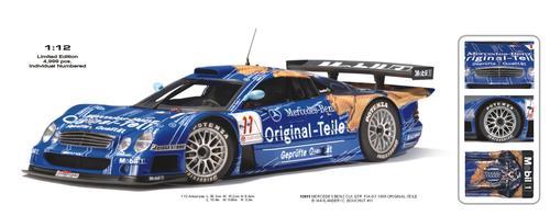 Mercedes-Benz CLK Persson Motorsport Teile #11 Team FIA GT 1998 Original