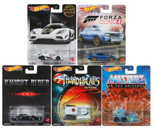 Hot Wheels 2021 Retro Entertainment 5 Car Set 1/64