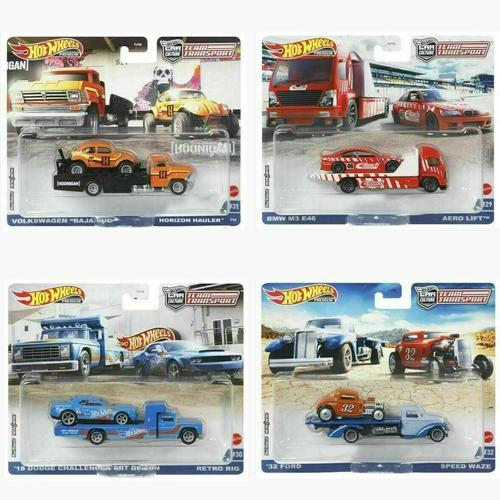 Hot Wheels 2021 Car Culture Team Transport Case L Set of 4 Trucks