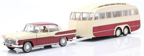 Simca Verdette Chambord 1958 & Caravane Henon