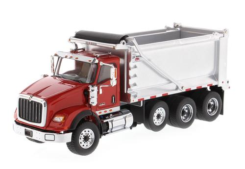 International HX260 Tandem Dump Truck with Pusher Axle