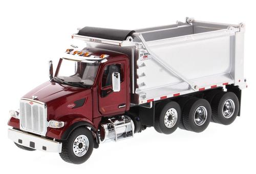 Peterbilt 567 Tandem Dump Truck with Pusher Axle
