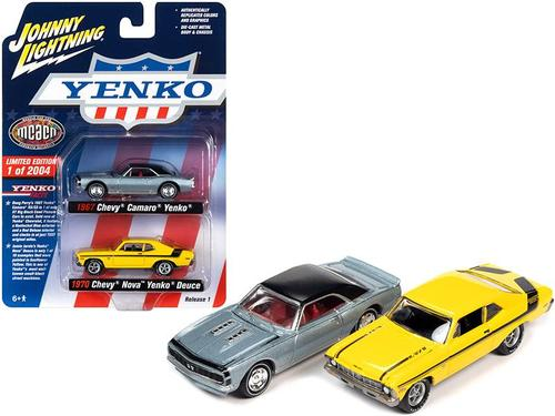 Johnny Lightning 1/64 1970 Chevy Nova & 1967 Camaro Yenko MCACN