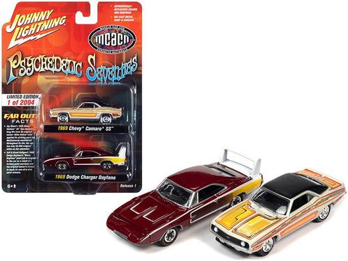 Johnny Lightning 1/64 1969 Chevy & Dodge Psychedelic '70s MCACN