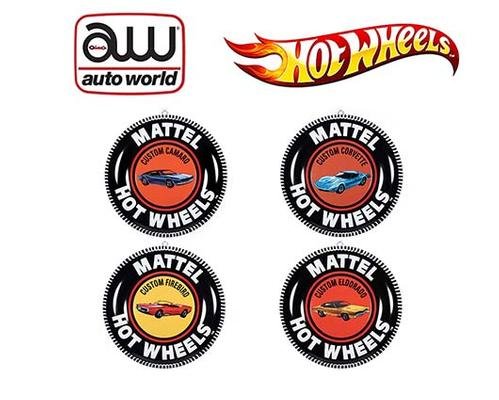 Auto World Tin Sign 12 Hot Wheels Button Assortment R1 (Mai 14)