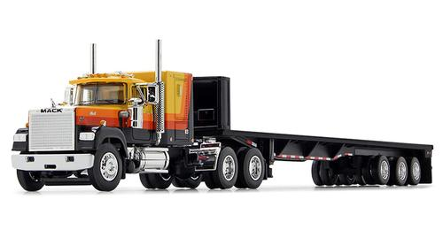 Mack Super-Liner with 60 Sleeper and Tri-Axle Flatbed Trailer
