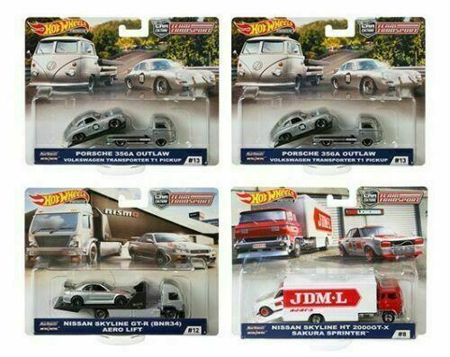 Hot Wheels 2019 Car Culture Team Transport Case E Set of 4 1/64