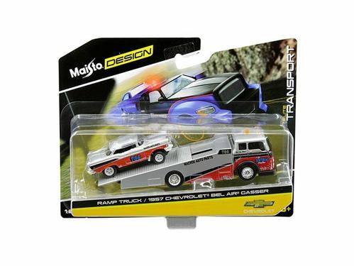 Maisto 1:64 Elite Transport 2018 - Ramp Truck / 1957 Chevrolet Bel Air Gasser