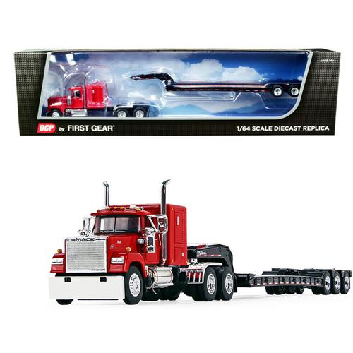 Mack Super-Liner with 60 Sleeper Cab with Talbert Tri-Axle Lowboy Trailer