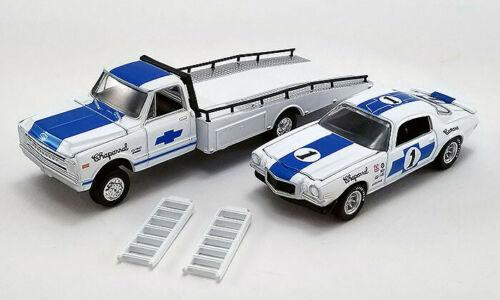 CHAPARRAL 1967 CHEVROLET C-30 RAMP TRUCK WITH #1 1970 CHEVROLET TRANS AM CAMARO