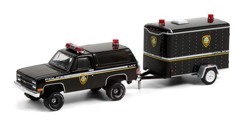 New York Police Department - 1990 Chevrolet K5 Blazer Utica with Small Cargo Trailer