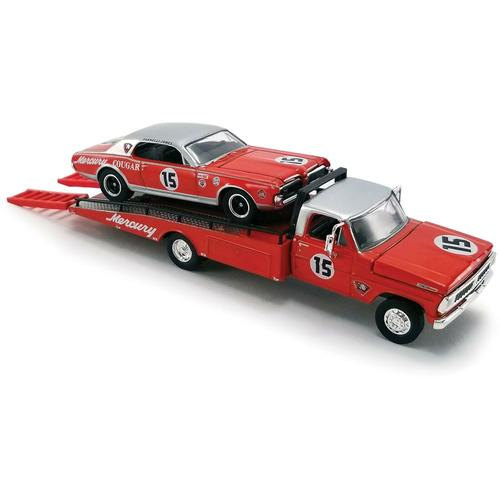 1970 Ford F-350 Ramp Truck with #15 Parnelli Jones 1967 Trans Am Cougar