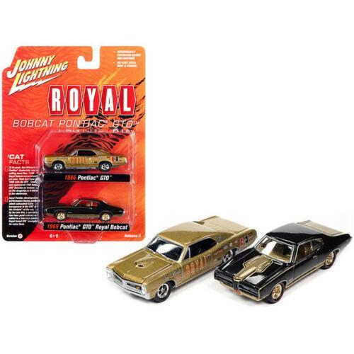 Johnny Lightning 2pack 1966 Pontiac GTO Royal & 1969 Pontiac GTO Royal Bobcat
