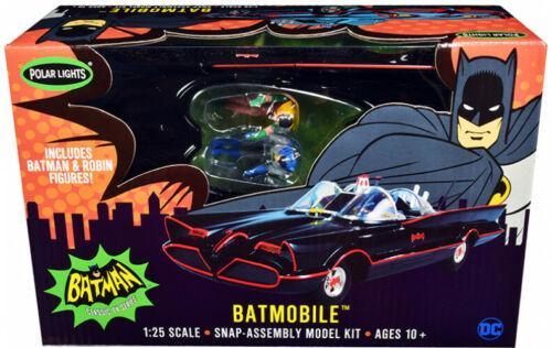 Snap Model Kit 1966 Batmobile with Batman and Robin Figurines Batman