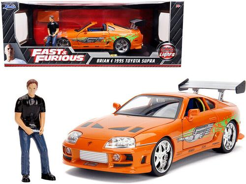 Toyota Supra Fast and Furious With Figure and lights