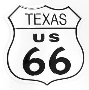 Texas Route 66  EMBOSSED   #E176