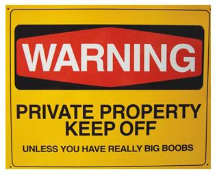 Warning Private Property Keep Off