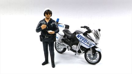Motorcycle Police Figure