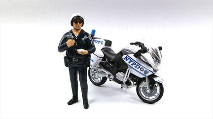 Motorcycle Police Figure