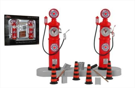 Accessory Set And Gasoline Pump Red Crown Gasoline