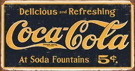 Coca-Cola At Soda Fountains 5¢
