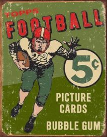 Topps Football Bubble Gum 5¢