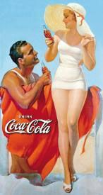 Coke-Man & Woman at Beach
