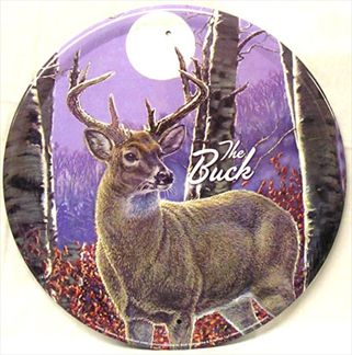 The Buck (Round Tin Sign)