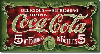 COKE - 1900's 5 Cent