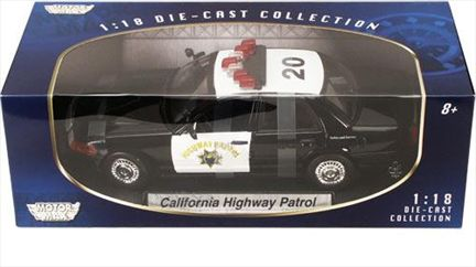 California Highway Patrol Ford Crown Victoria 2001 Police *damaged*