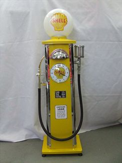 Gasoline Pump With Illuminated Head and Clock