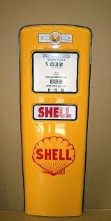 SHELL GAS PUMP DOOR DISPLAY