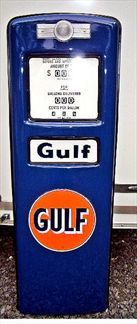 GULF GAS PUMP DOOR DISPLAY