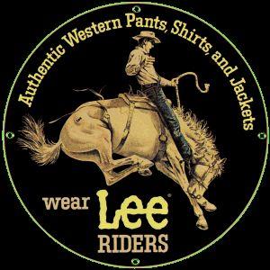 Lee Rider Porcelain on Steel Sign