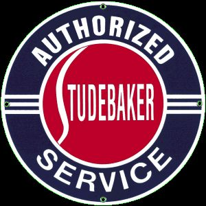 Studebaker Porcelain on Steel Sign