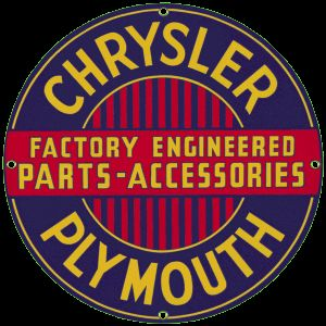 Chrysler/Plymouth Porcelain on Steel Sign