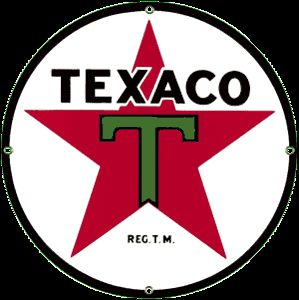 Texaco 36 Porcelain on Steel Sign