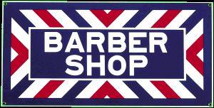 Barber Shop Porcelain on Steel Sign