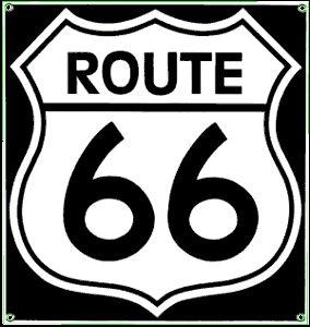 Route 66 Porcelain on Steel Magnet