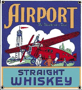 Airport Whiskey Porcelain on Steel Sign